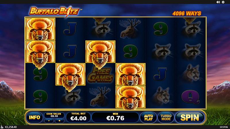 buffalo blitz slot bonuses